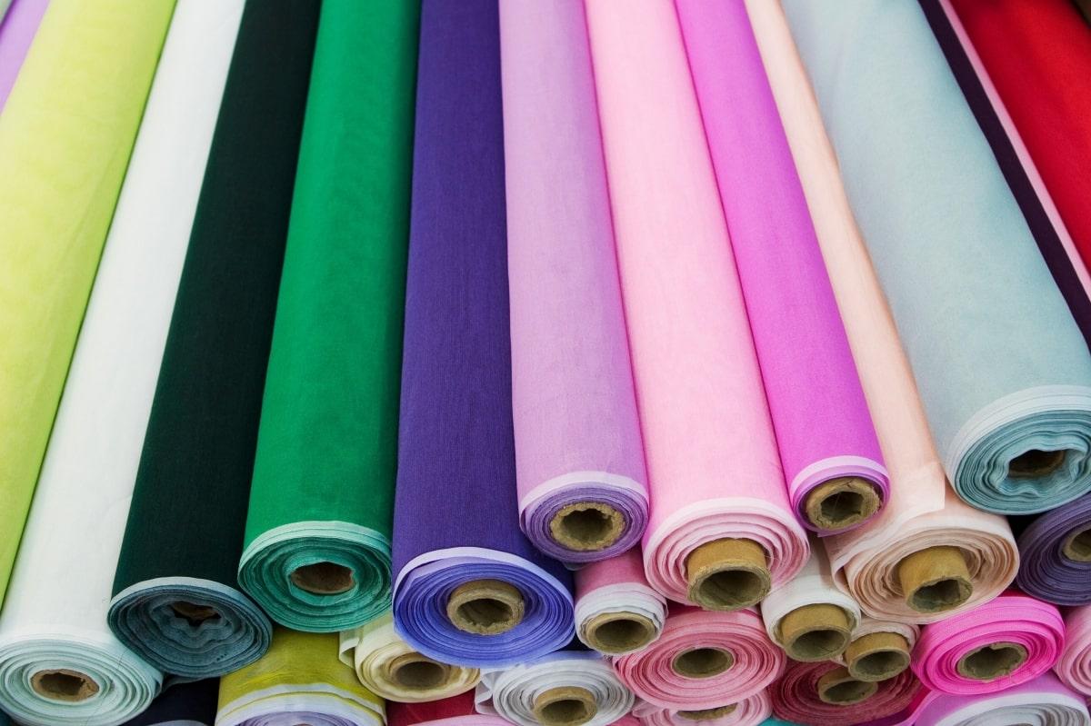Textile assortment various colors